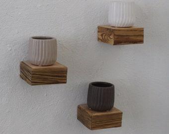 SET of THREE Small Shelves, Rustic Floating Shelves, Reclaimed wood Shelf, Handmade,Rustic decor,Original Gift, Weathered Wood, Wall Hanging