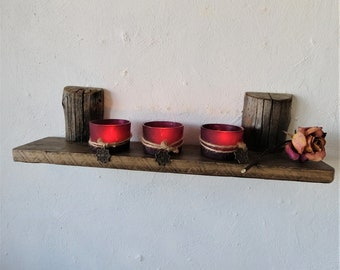 Large FLOATING Shelf, Original Old Barn wood Shelf, Rustic Shelf, Wine shelf, Spices shelf, Wall Hanging, Candle Holder Wall Decor ,IMgalery