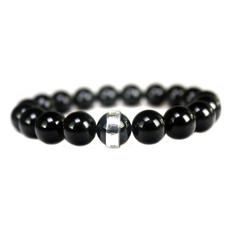 Bracelet Luxury B12 \u2013 Onyx \u2013 Sterling Silver Bela Donaco 770