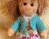 Personalised Ragdoll Penny. Any Name. Christening. New Baby. Flower Girl. Gift Rag Doll