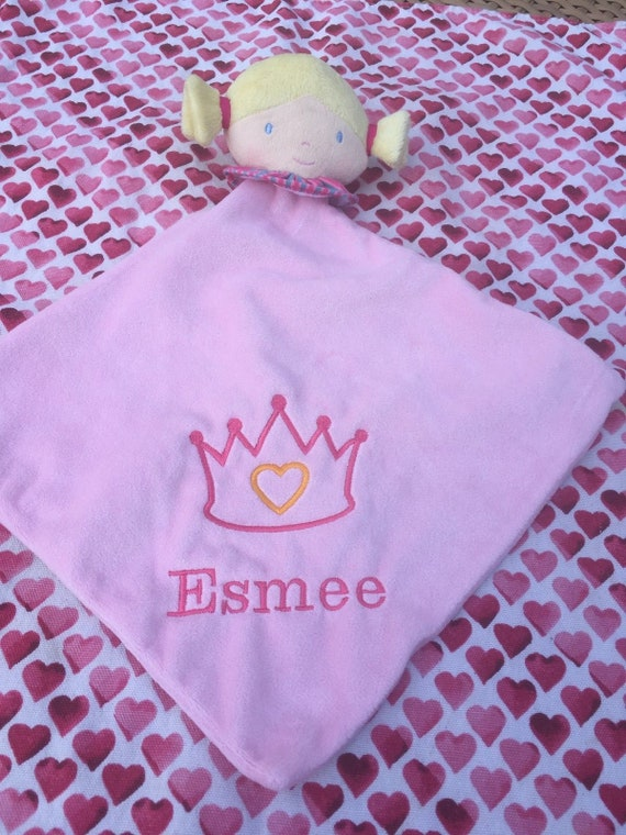 Baby Blankie Personalised Plush Lilac Dolly Comforter Toy New Baby Girls Gift From Birth