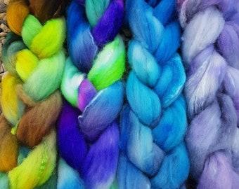 Hand Dyed  5050 CashmereSilk tops