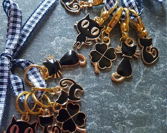 5 Knitting or crochet  stitch markers. Lucky