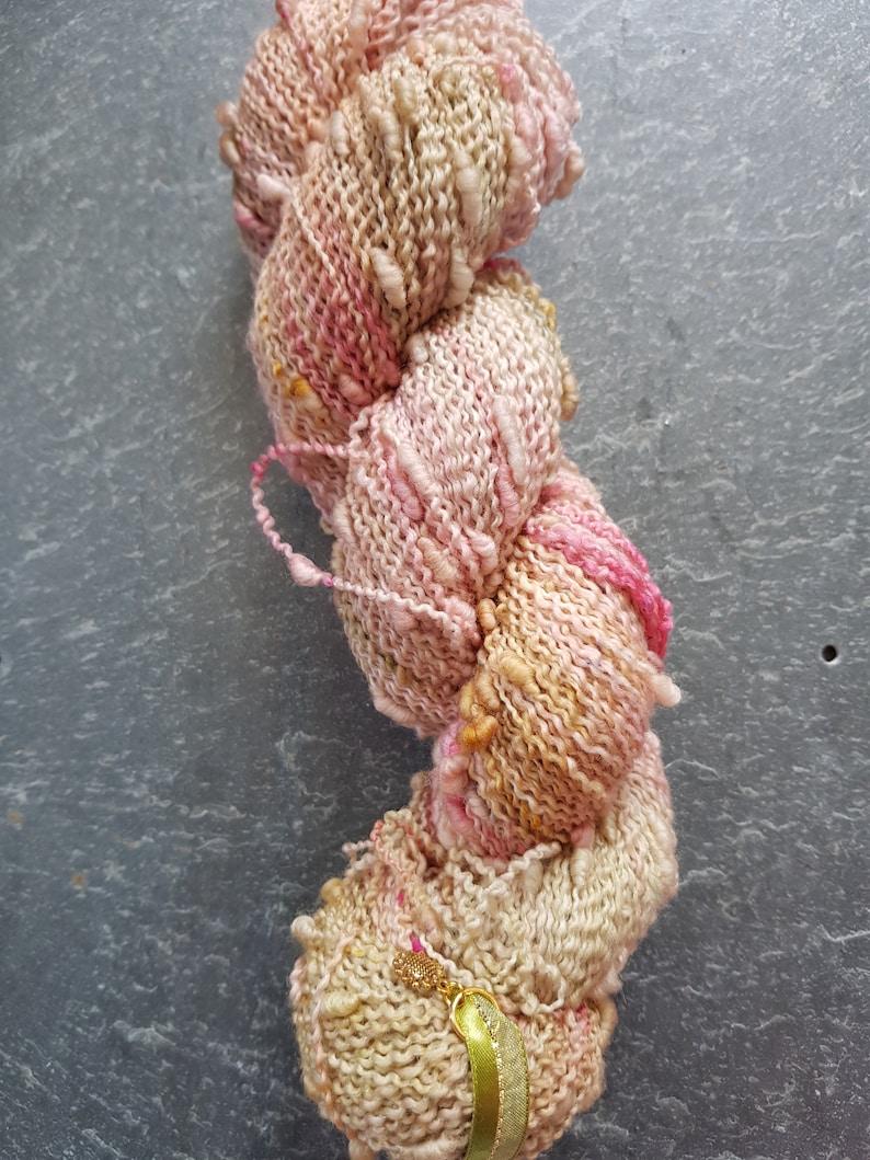 Hand dyed merino slub  squiggle yarn Loveday image 0