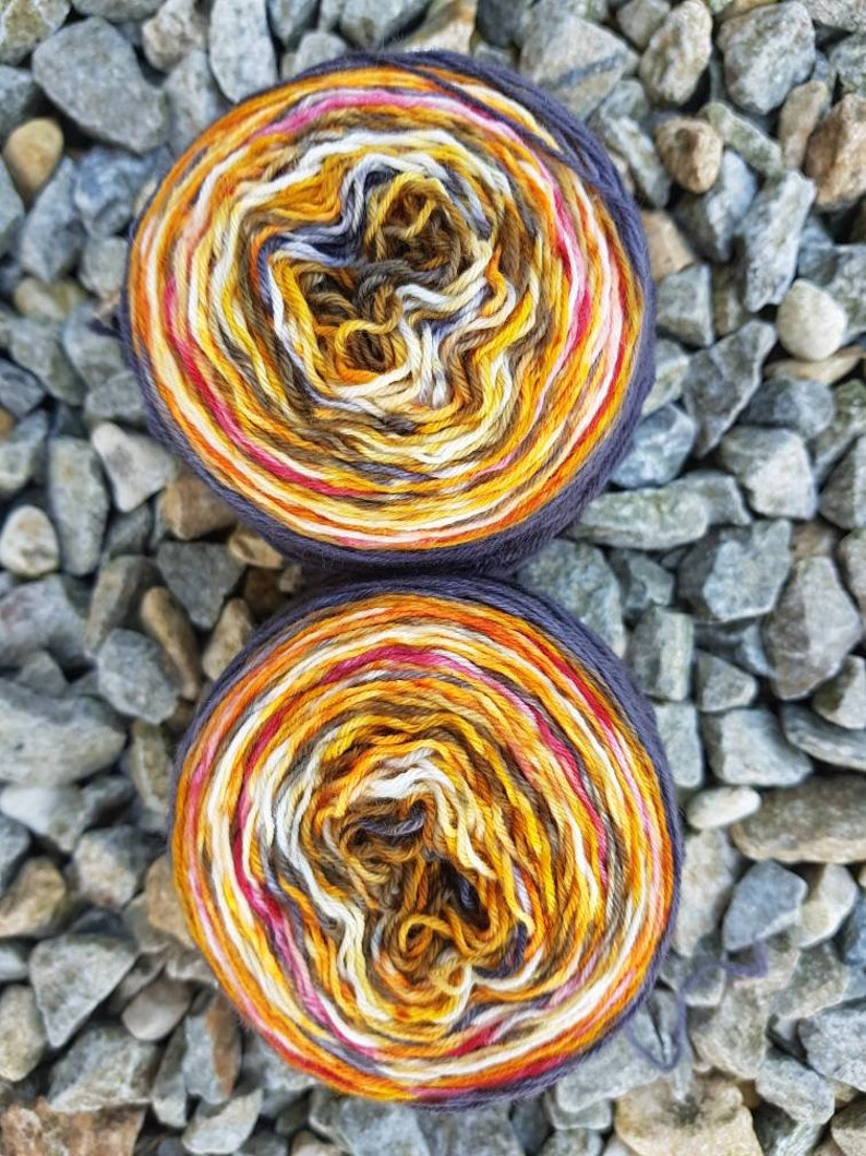 Hand dyed sock yarn 100g 2x 50g October. OOAK From double image 0