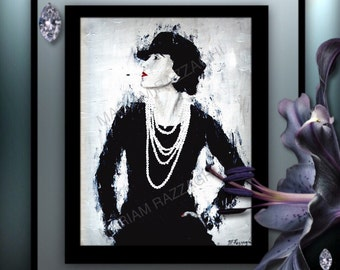 Print Coco Chanel. Also Downloadable as part of a set of 4. See my other listing for details.