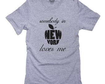 9a6b156f Somebody In New York Loves Me - NY Apple T-Shirt, Pillow, Frame and Towel