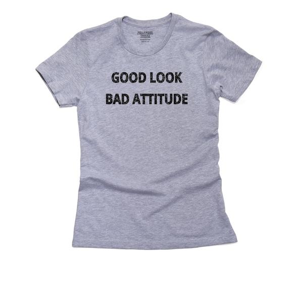 Good Luck Bad Attitude T Shirt, Pillow, Frame and Towel