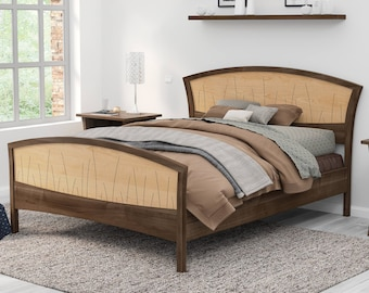 Solid Wood Bed Frame Queen King Or California King Handmade Etsy