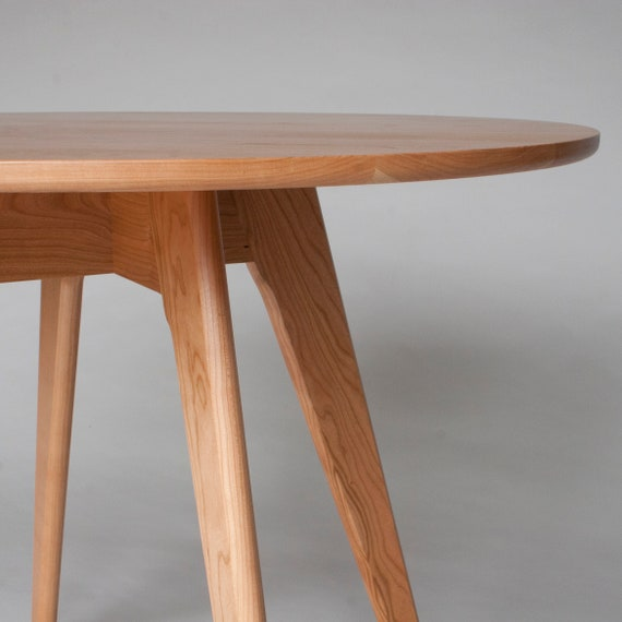Small Round Mid Century Dining Table (30 Inch); Comes in Cherry, Walnut,  Oak or Mahogany; FREE US Shipping