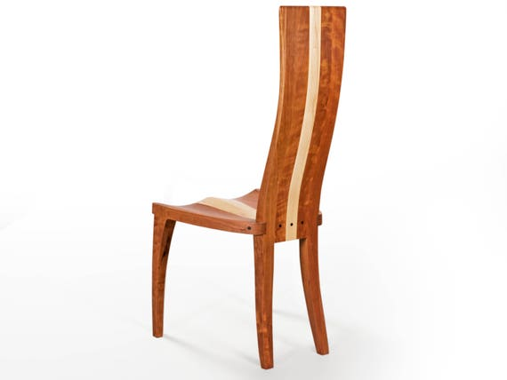 Wood Dining Chair Scandinavian Dining Chair High Back In