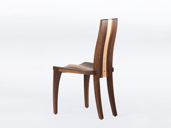 Fine Modern Dining Chairs Handmade In Solid Walnut And Maple Wood Available As Single Or Set Of Chairs Gazelle Machost Co Dining Chair Design Ideas Machostcouk