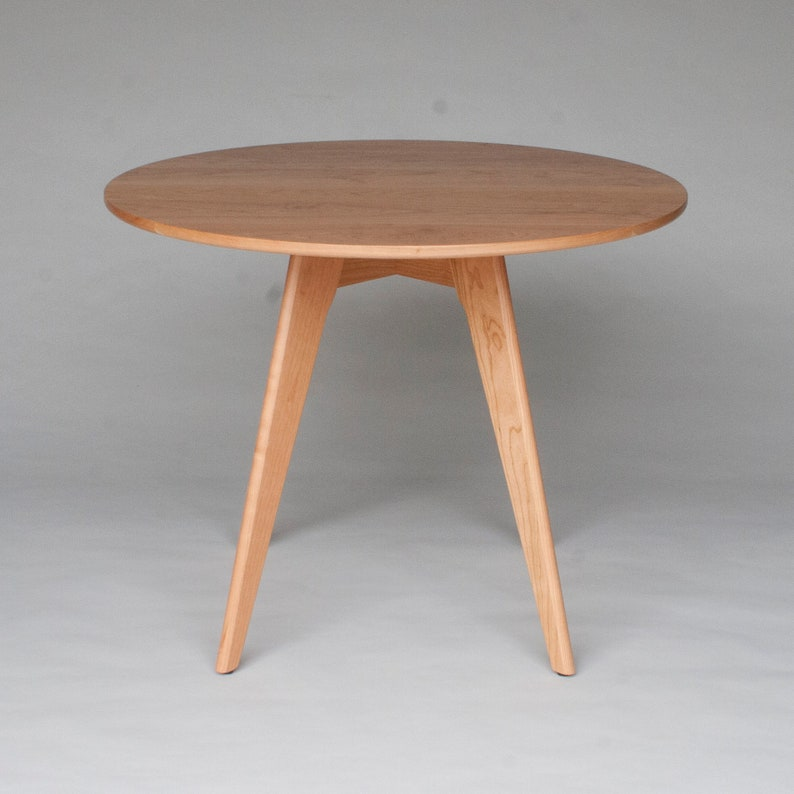 36 Inch Round Dining Table In Solid Natural Cherry Wood Etsy