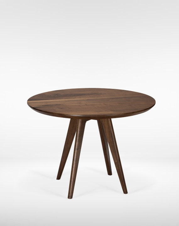 Round Mid Century Dining Table (30 Inch); Comes in Cherry, Walnut, Oak or  Mahogany; FREE US Shipping