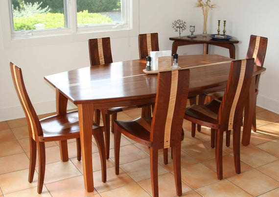Modern Dining Chairs Handmade In Solid Walnut And Maple Wood Available As Single Or Set Of Chairs Gazelle