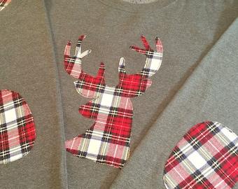 Plaid Reindeer sweatshirt
