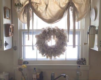 Canvas scrap wreath
