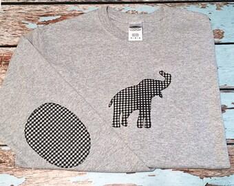Long sleeved gingham elephant