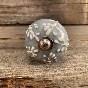 Item #558439099 Ceramic Pulls Hand Painted Round Tomato Knobs Drawer Upgrade Ceramic Knob Bronze Hardware /& Floral Design