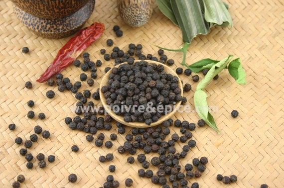 Black Kampot peppercorn