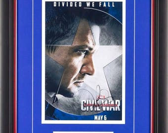 Captain America Civil War Movie -  Photo Signed by Jeremy Renner