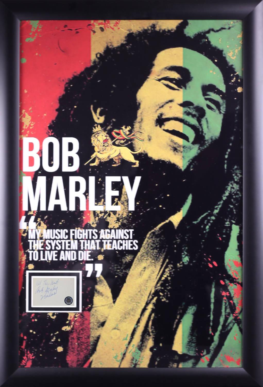 Bob Marley Poster mit Unterschrift ausgeschnitten gerahmte bei | Etsy