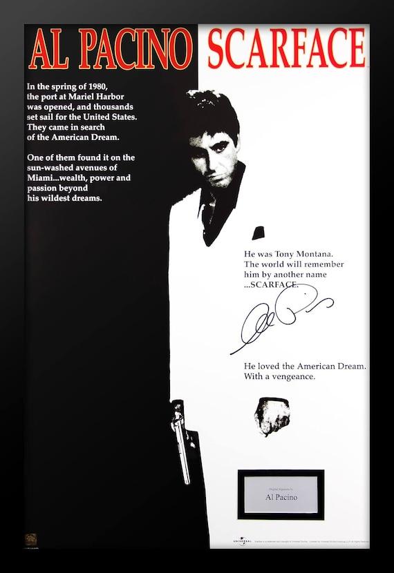 Cartel de la película de Scarface firmado por Al Pacino | Etsy