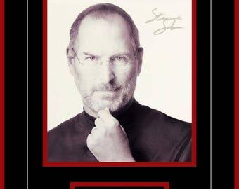 Steve Jobs - Signed Framed Photo