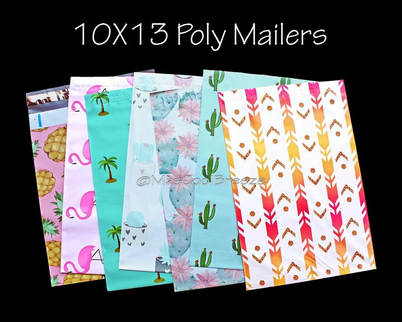 400 10x13 ~ 50 12x15.5 ~ Poly Mailers Envelopes Bags Plastic Shipping Bag 10x13