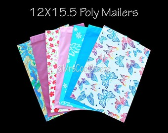20/25 Mix of 12X15.5 Poly Mailers Self Seal Waterproof Envelope Shipping Bags Fast Shipping Flat