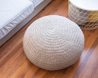 Pouf, knit pouf, pouffe, crochet pouf, pouf tricot, ottoman, knit pouf ottoman, pouffe scandinavian, floor pillow, 67 colours