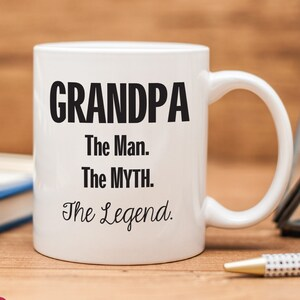 The Man The Myth The Legend Personalized Coffee Mug Etsy