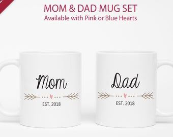 mom and dad mugs etsy