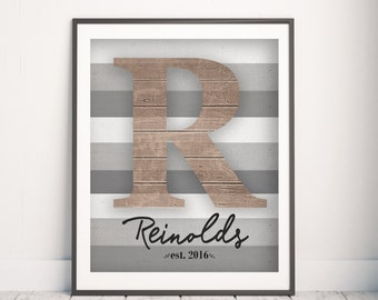 Personalized Family Print - Family Name Wall Art - Living Room Decor - Family Name Gift - Anniversary Gift - Rustic Family Sign Family Sign