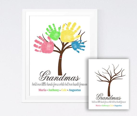 Handprint DIY Print Handprint Wall Art Grandmother\'s | Etsy
