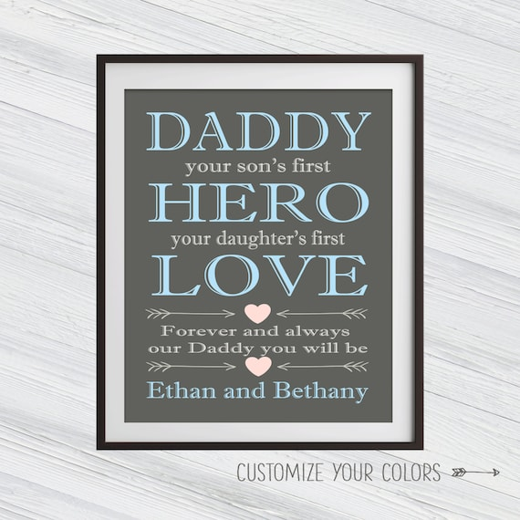 1af726299b6c Custom Fathers Day Gifts - Dad Quote - Father son gift - Father Daughter  Gift - Custom Quote Print - Dad Gifts - Fathers day gift from Son