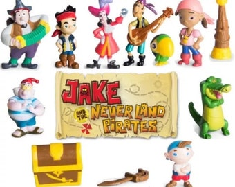 Mister A Gift Disney juniors Jake and the Neverland Pirates set of 12 plastic Cake Toppers