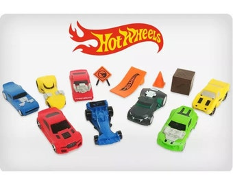 Mister A Gift Hot Wheels set of 12 Plastic Cake toppers