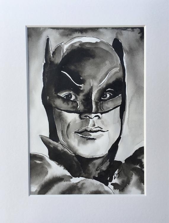 Adam West as Batman in Ink