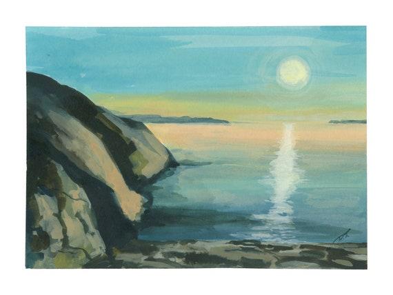 Sunset at Lake Superior Fine Art Print 5 x 7 Inches