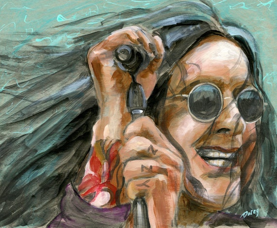 Ozzy Osbourne With Microphone 8 x 10 Inches Fine Art Print