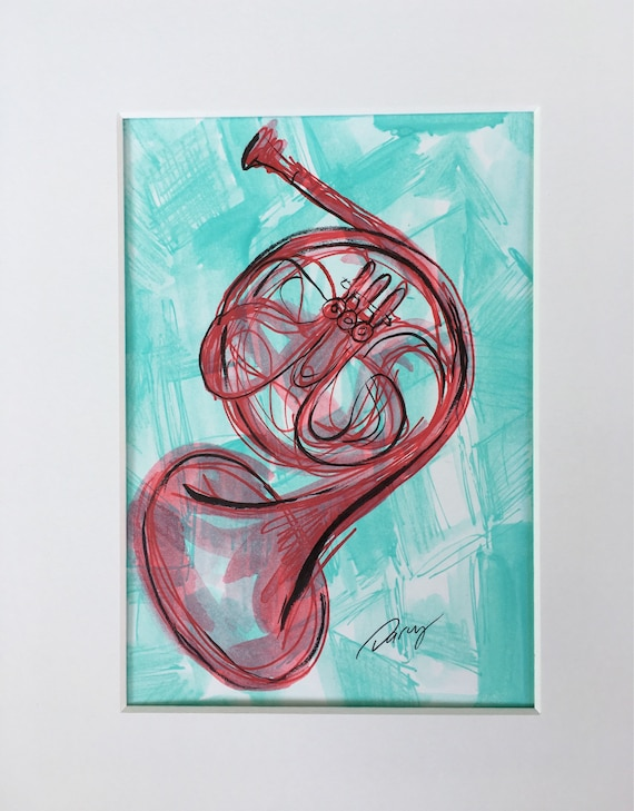 Red French Horn