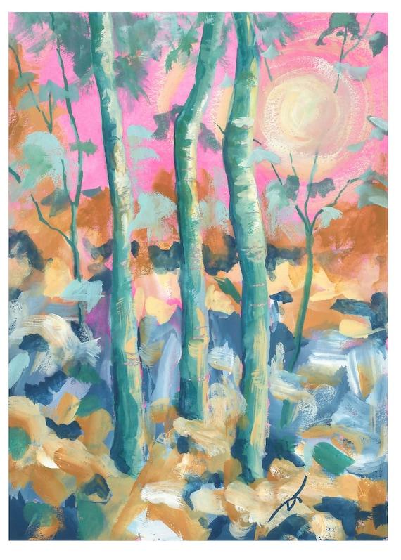 Aspens and Sunshine Fine Art Print 5 x 7 Inches