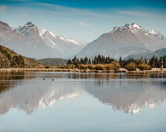 Lake Reid In The Morning, Fine Art Photography, Print, Wall Décor, Home Décor, New Zealand