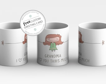 Mothers Day Personalized gift for Grandma, I love you Grandma Mug personalized Mothers Day gift Grandma gift from Grandkids Nana Mothers day