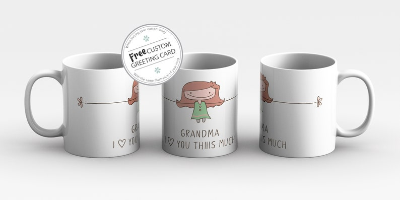 Mothers Day Personalized gift for Grandma I love you Grandma image 0