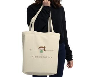 Teacher appreciation personalized gift, personalized tote bag, teacher bag, teacher gift. Graduation gift. Thank you teacher gift.