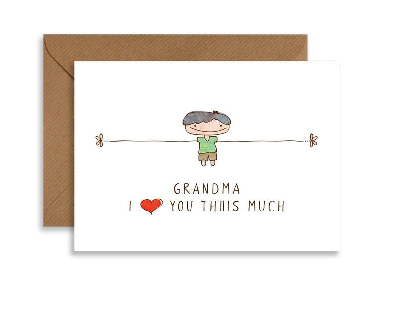Mothers Day Card for Grandma Birthday Card for Grandma Grandma image 0