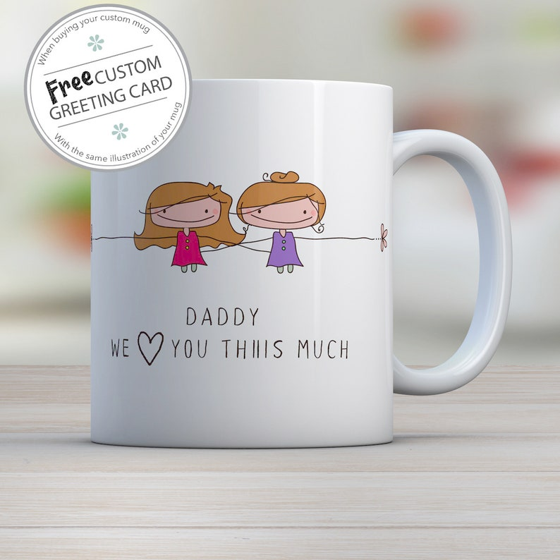 Personalized gift for Dad Dad I love you mug Personalized image 0