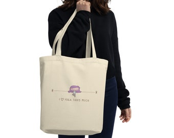 Yoga Personalized Gift, I Love Yoga Tote Bag, Personalized Bag, Yoga Teacher Gift, Gift for Yoga Lovers, Mothers Day Gift, Birthday Gift